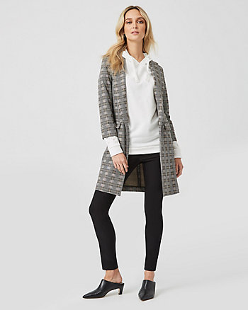 Check Print Jacquard Relaxed Fit Blazer