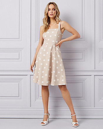 Dot Print Fit & Flare Dress