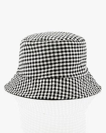 Chapeau cloche réversible à motif en coton