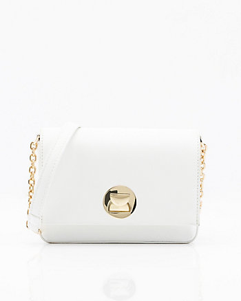Mini Leather-Like Crossbody Bag