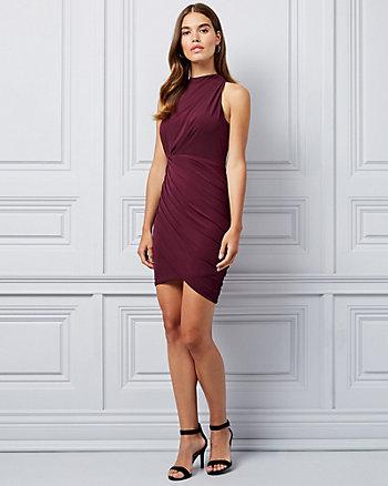 14fb3f80c0c Pleated Knit Wrap-Like Dress