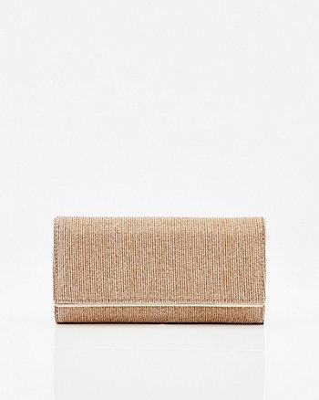 Metallic Wallet with Crossbody Strap