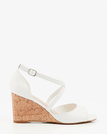 Strappy Cork Wedge Sandal