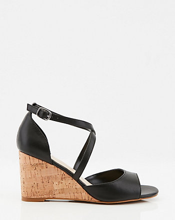 Strappy Cork Wedge Sandal