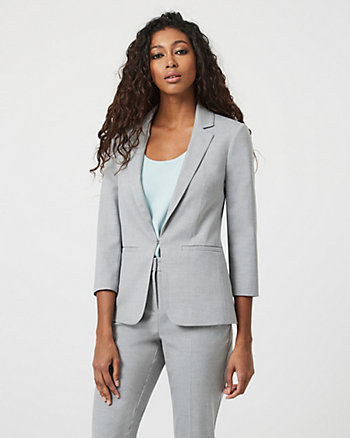 Viscose Blend Tailored Fit Blazer