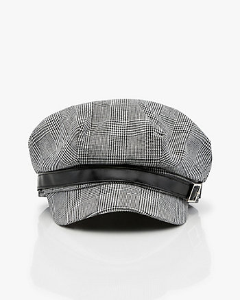 Glen Check Herringbone Poorboy Hat