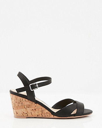 854db69701d9 Ankle Strap Cork Wedge Sandal