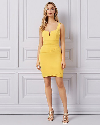 Yellow Cocktail Dress with Bow