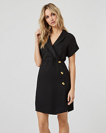 Lyocell Wrap-Like Dress