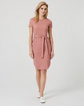 Jersey Waist Tie T-Shirt Dress