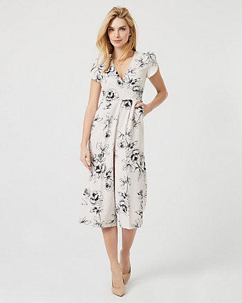 Floral Print Crêpe Culotte Jumpsuit