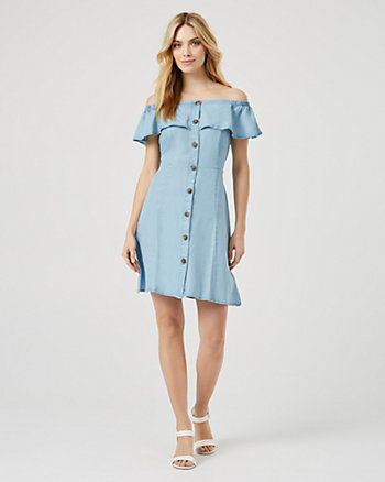Lyocell Off-the-Shoulder Dress