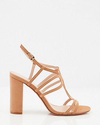 Sandale à talon bloc et lanières