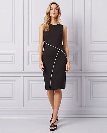 Ponte Knit Cutout Scoop Neck Dress