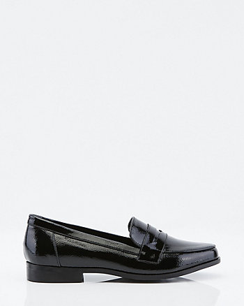 Patent Almond Toe Loafer
