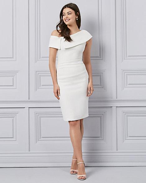 official store hot sale watch LE CHÂTEAU: Double Weave One Shoulder Cocktail Dress