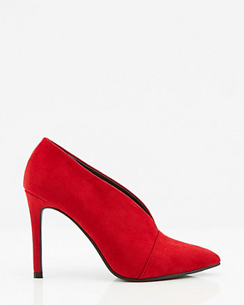 Faux Suede Pointy Toe Pump