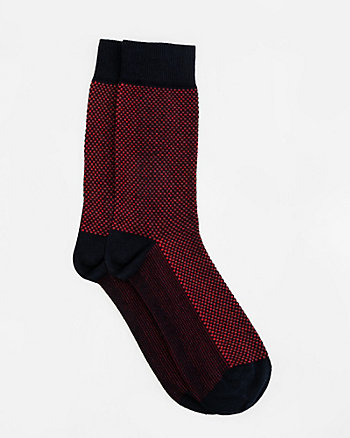 Tonal Dot Cotton Blend Socks