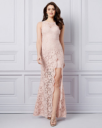 Lace Illusion Gown
