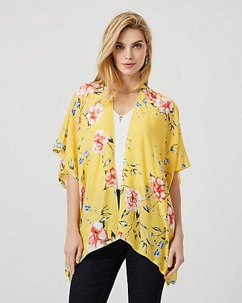 Floral Print Viscose Kimono