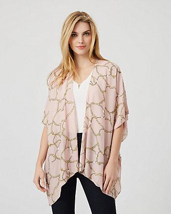 Scarf Print Viscose Kimono