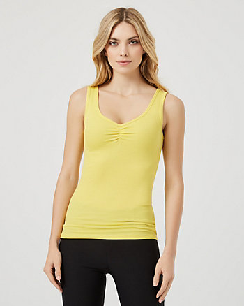 Rib Knit V-Neck Sleeveless Top