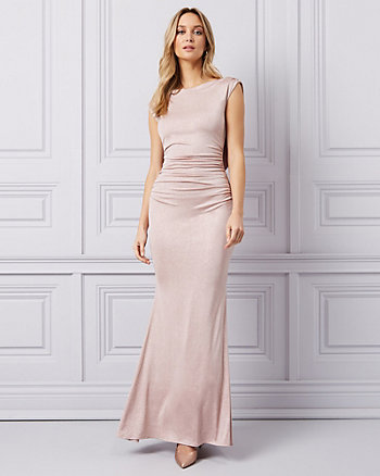 Sparkle Knit Cowl Back Gown