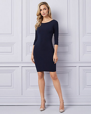 347cf38cad44f Knit Open Back Cocktail Dress