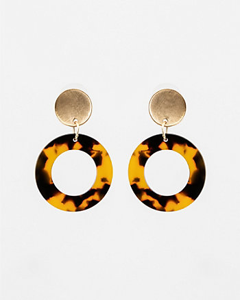 Tortoise Drop Earrings