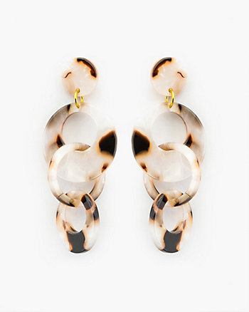Tortoise Circle Drop Earrings