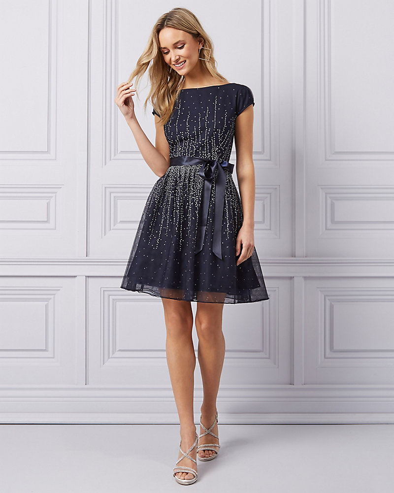 a50139f9 Sparkle Mesh & Tulle Fit & Flare Party Dress | LE CHÂTEAU