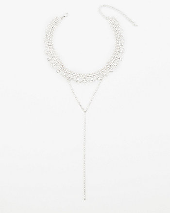 Gem Embellished Collarbone Necklace