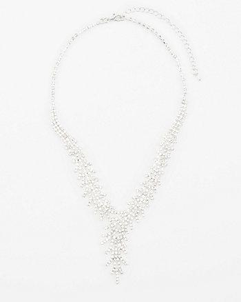 Gem Encrusted Y-Necklace