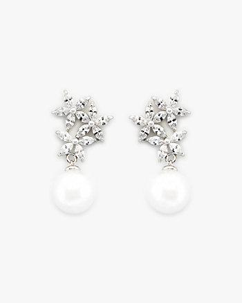 Gem Encrusted & Pearl-Like Earring