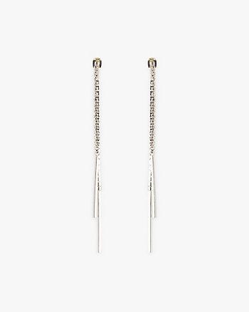 Cubic Zirconia Encrusted Earrings