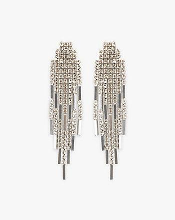 Gem Encrusted Fringe Earrings