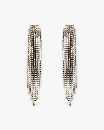Gem Encrusted Fringe Earrings