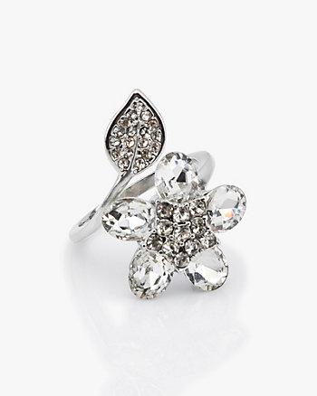 Floral Gem Encrusted Ring