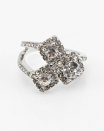 Cubic Zirconia Encrusted Ring