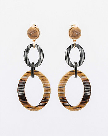 Coconut Chain Link Drop Earrings