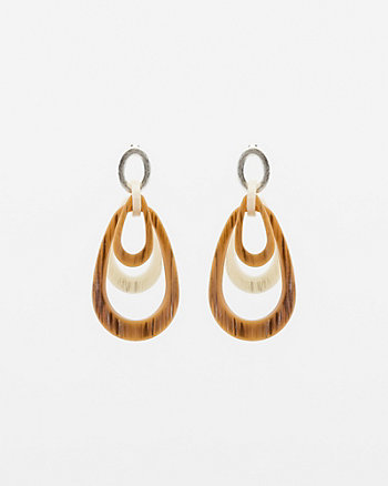 Coconut Teardrop Earrings