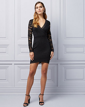 Lace Cutout Back  Cocktail Dress