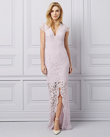 Lace Deep-V Gown