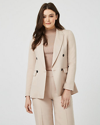 Lyocell Double Breasted Tailored Blazer