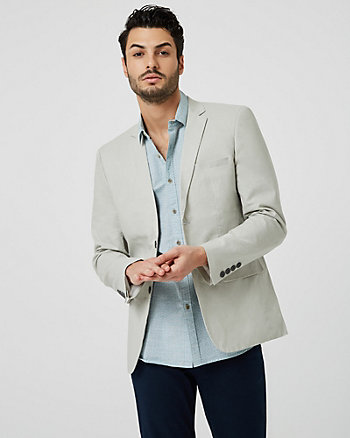 Linen Blend City Fit Blazer