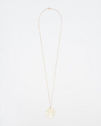 Palm Leaf Pendant Necklace