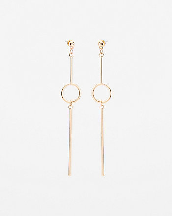 Circle & Bar Drop Earrings