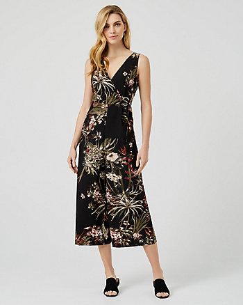 Combi-pantalon fleurie style jupe-culotte