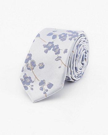 Cherry Blossom Print Silk Tie