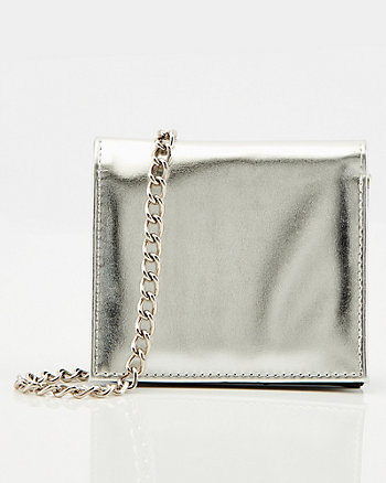 Metallic Leather-Like Belt Bag